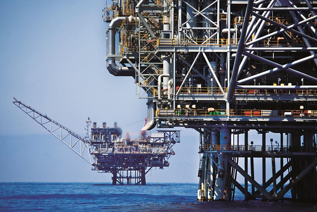 An aeriel view of the Israeli 'Tamar' gas processing rig 24 km off the Israeli southern coast of Ashkelon. Noble Energy and Delek are the main partners in the Tamar gas field, estimated to contain 10 trillion cubic feet of gas. June 23, 2014. Photo by Moshe Shai/FLASH90 *** Local Caption *** noble energy ðåáì àðøâ'é àñãú äâæ úîø îåì çåôé àù÷ìåï ÷éãåç àðøâéä ðåáì àðøâé àñãä éí úéëåï âæ