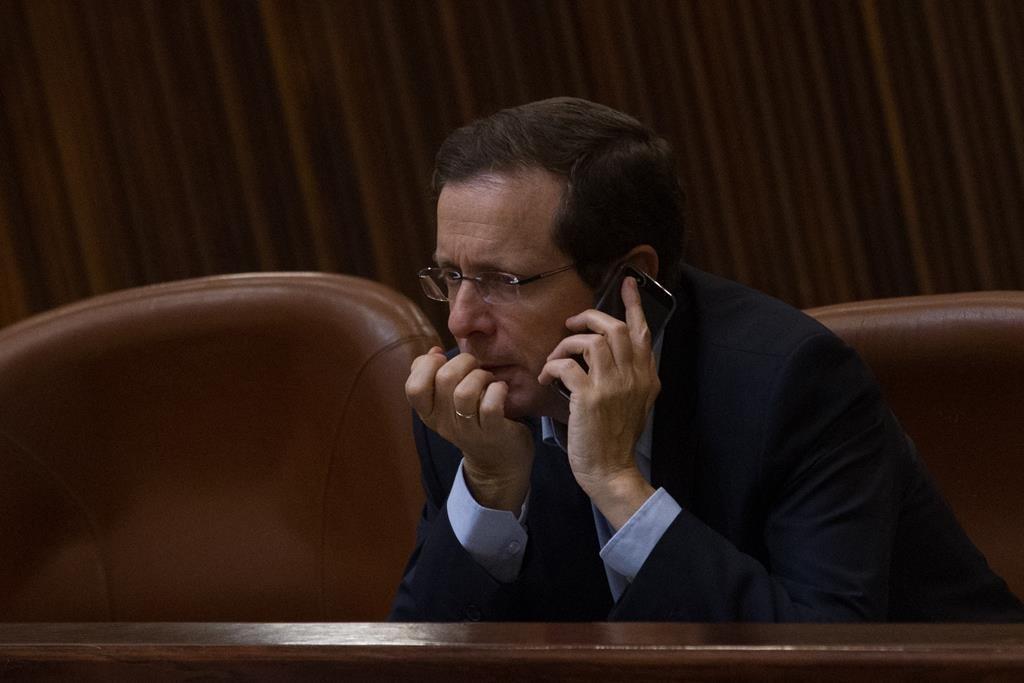 Zionist Camp leader Isaac Herzog. (Miriam Alster/FLASH90)