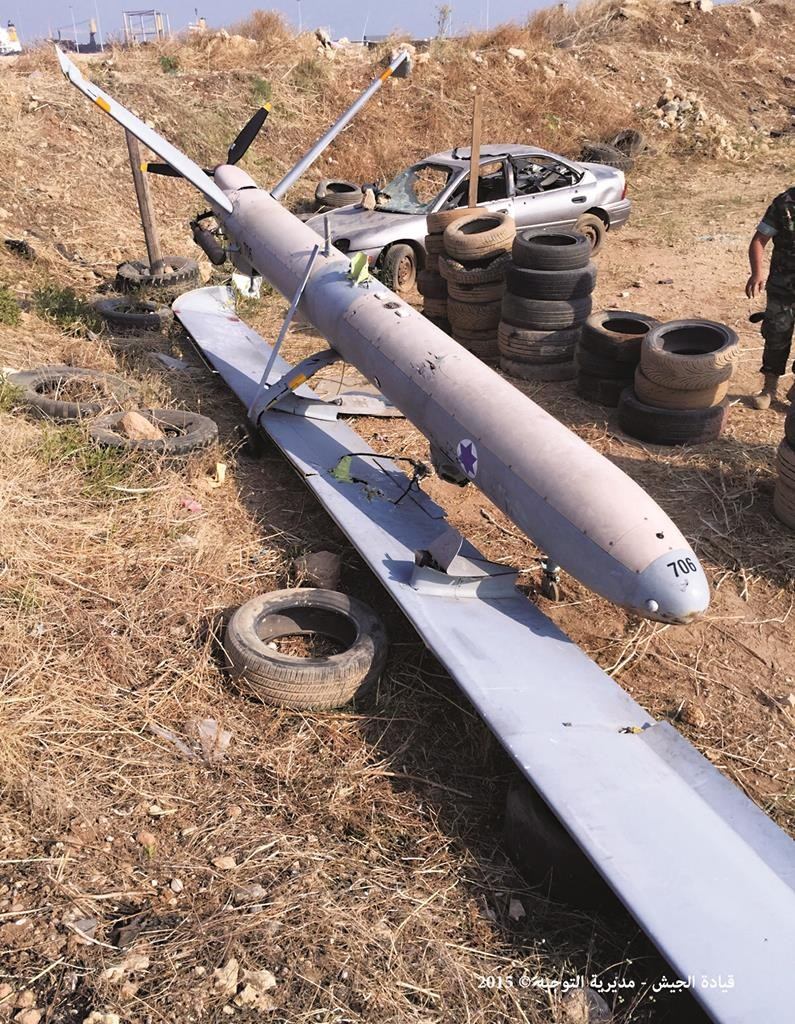 An Israeli drone that crashed in the port of Tripoli, northern Lebanon. (Lebanese Army Website via AP)