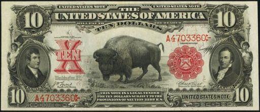 A $10 bill dating back to 1908. (AntiqueMoney.com)
