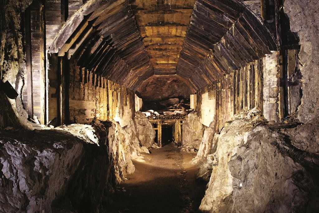 This 2012 photo shows a part of a subterranean system built by Nazi Germany in what is today Gluszyca-Osowka, Poland.  (AP Photo)