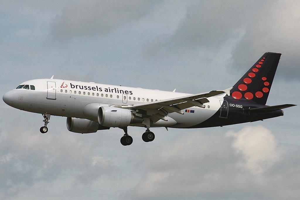 A Brussels Airlines Airbus A319-100. (Yannick de Bel)