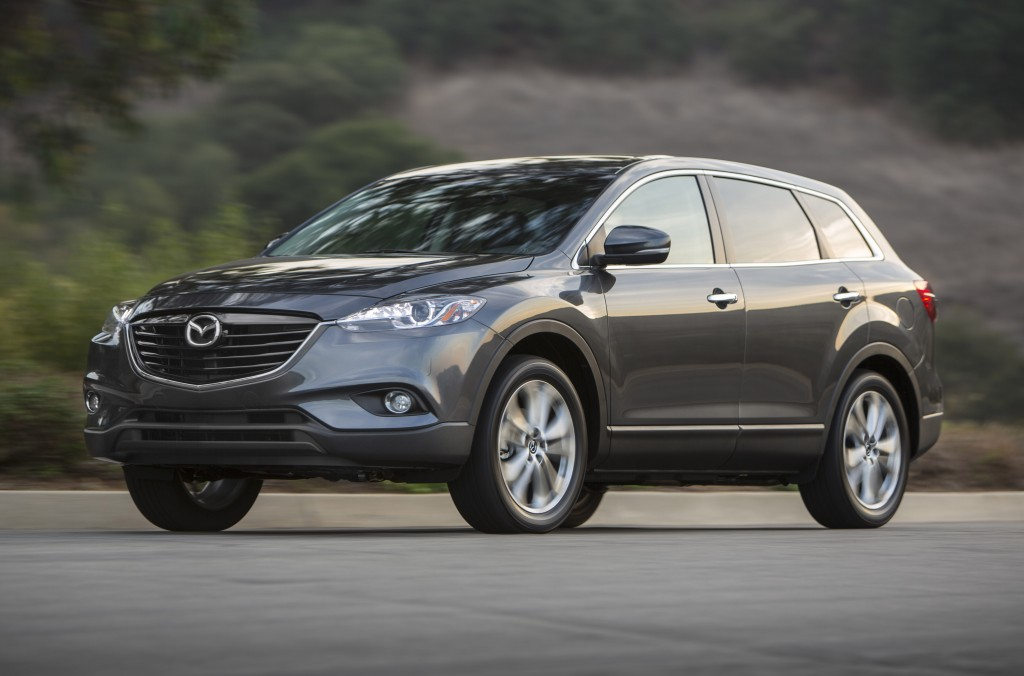 This photo shows the 2014 CX-9 SUV. Mazda is recalling more than 193,000 CX-9 SUVs in the U.S. from the 2007 through 2014 model years to fix suspension parts that can rust and come loose, causing a loss of steering control. (Mazda via AP)