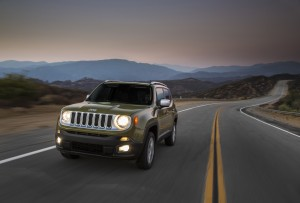 The 2015 Jeep Renegade feels unusually agile for its clumsy 66-inch height, tackling curves with a bit of body roll but maintaining its overall composure. (A.J. Mueller/TNS)