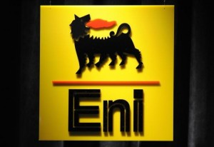 The logo of the Italian energy giant Eni. (Damien Meyer/AFP/Getty Images)