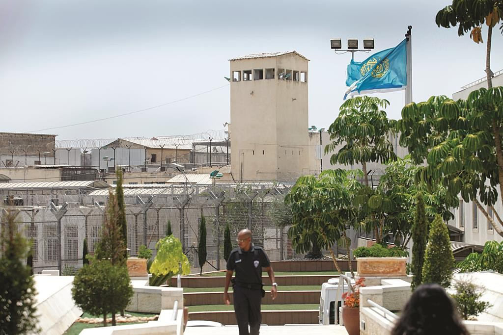A view of the Hadarim Prison in the Sharon coastal district.  (Moshe Shai/FLASH90)