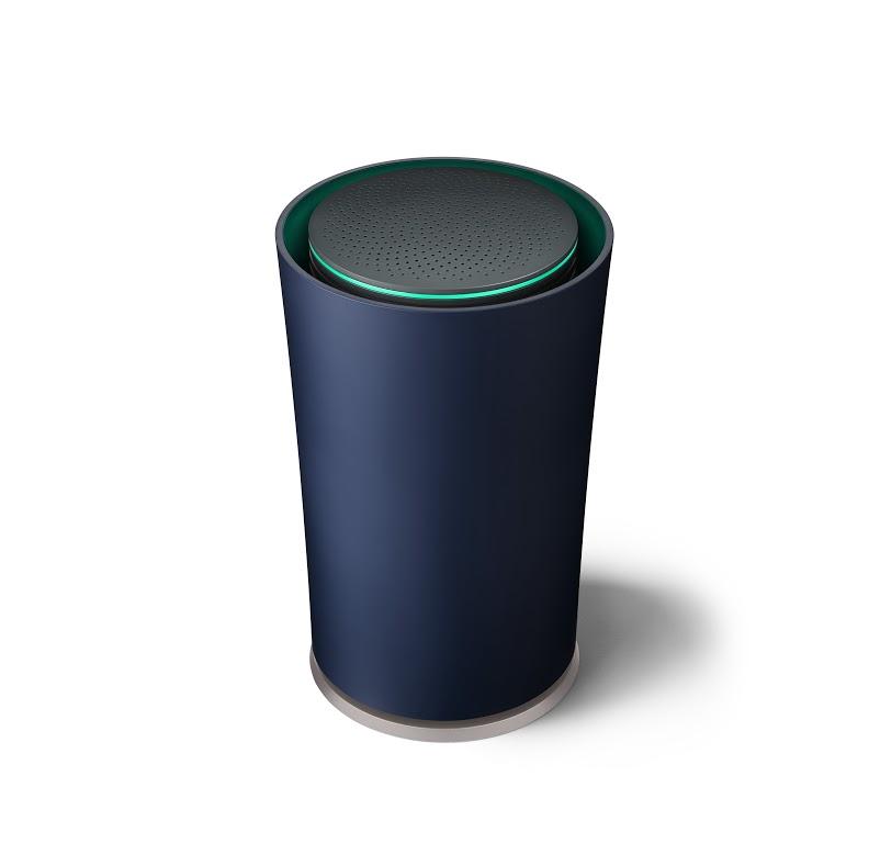 Google's OnHub wi-fi router. (Sandbox Studio/Courtesy of Google via AP)