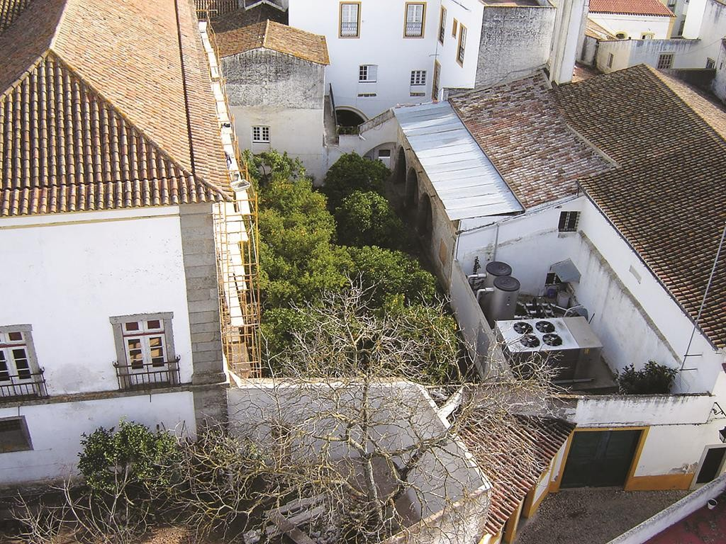 "The site of the ""jail cleaning yard"" in Evora, Portugal"