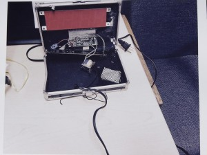 This photo provided by the Irving Police Department shows the homemade clock that Ahmed Mohamed brought to school, Wednesday, in Irving.  (Irving Police via AP)