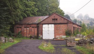 The abandoned building of a German Nazi-era railway installation in Walim, near Walbrzych, in Poland. (AP Photo)