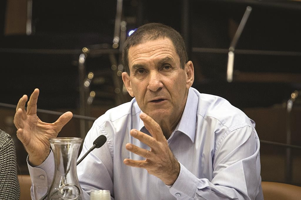 Yiftah Ron-Tal, Director of the Israel Electricity Company, speaking during a special Knesset meeting over the failure of electricity in the storm this week. (Hadas Parush/Flash90)