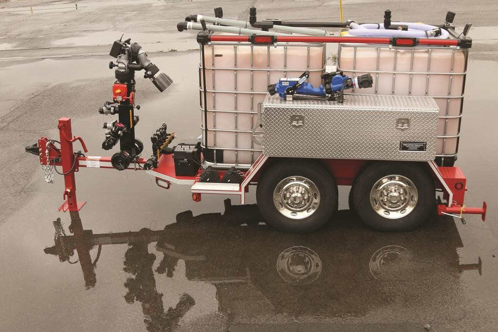 A foam trailer which will be distributed to local fire departments for use in combating fires and spills involving crude oil. (Office of Gov. Cuomo)