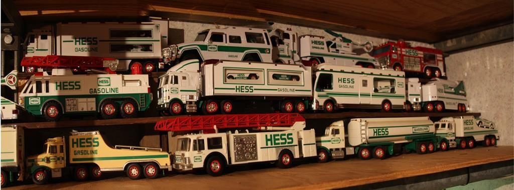 A fleet of toy Hess trucks. (Flickr/x376)