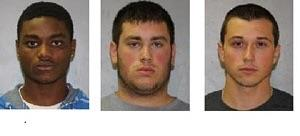Three suspects who were arrested in connection with two pellet gun shooting incidents at Jewish men in Kiryas Joel, N.Y. (JPUpdates.com)