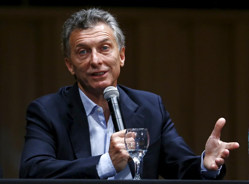 Argentina's president-elect Mauricio Macri gives a news conference in Buenos Aires, Argentina, Monday. (REUTERS/Enrique Marcarian)