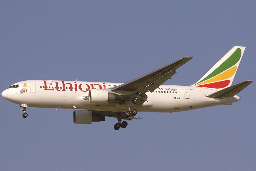 An Ethiopian Airlines Boeing 767-200ER. (Konstantin von Wedelstaedt)