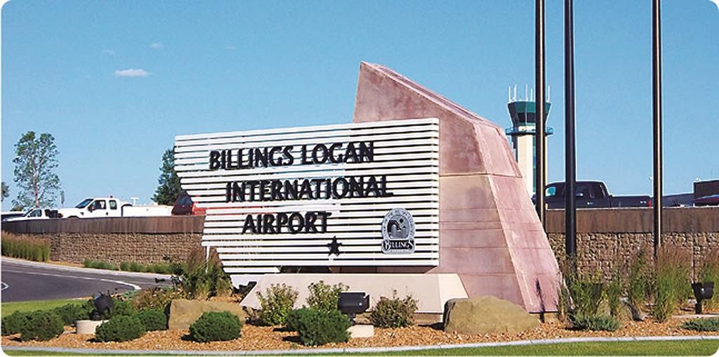 Billings Airport, where an El Al plane was delayed for 13 hours.