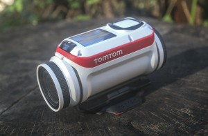 The TomTom Bandit action camera is shown on Wednesday, Nov. 11, 2015, in Decatur, Ga. Action cameras are getting smaller, lighter, better and more connected. The TomTom Bandit shoots 4K resolution shoots 4K video and boasts up to three continuous hours of recording. (AP Photo/ Ron Harris)