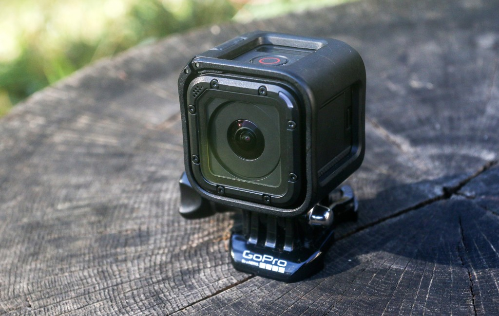 The GoPro HERO4 Session action camera. (AP Photo/ Ron Harris)