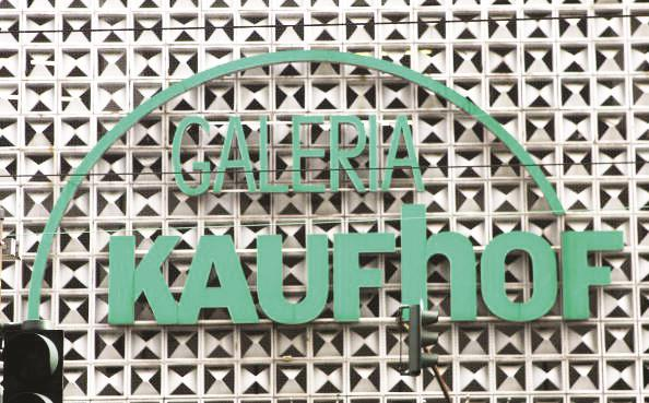 The logo of the Galeria Kaufhof department store in Duesseldorf, Germany.  (Patrik Stollarz/Getty Images)