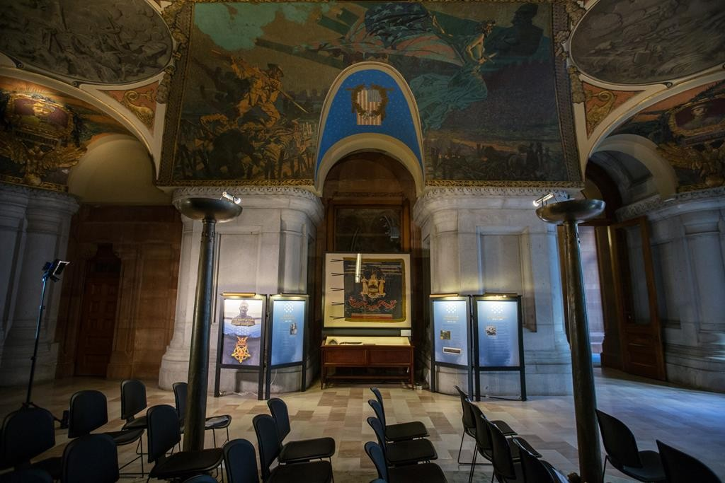 An exhibit in the Capitol in Albany opened Monday in honor of Medal of Honor awardee Sgt. Henry Johnson, an Albany resident, for his heroism during World War I. (Office of Gov. Cuomo)