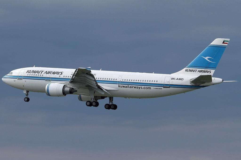 A Kuwait Airways Airbus in flight. (Konstantin von Wedelstaedt)
