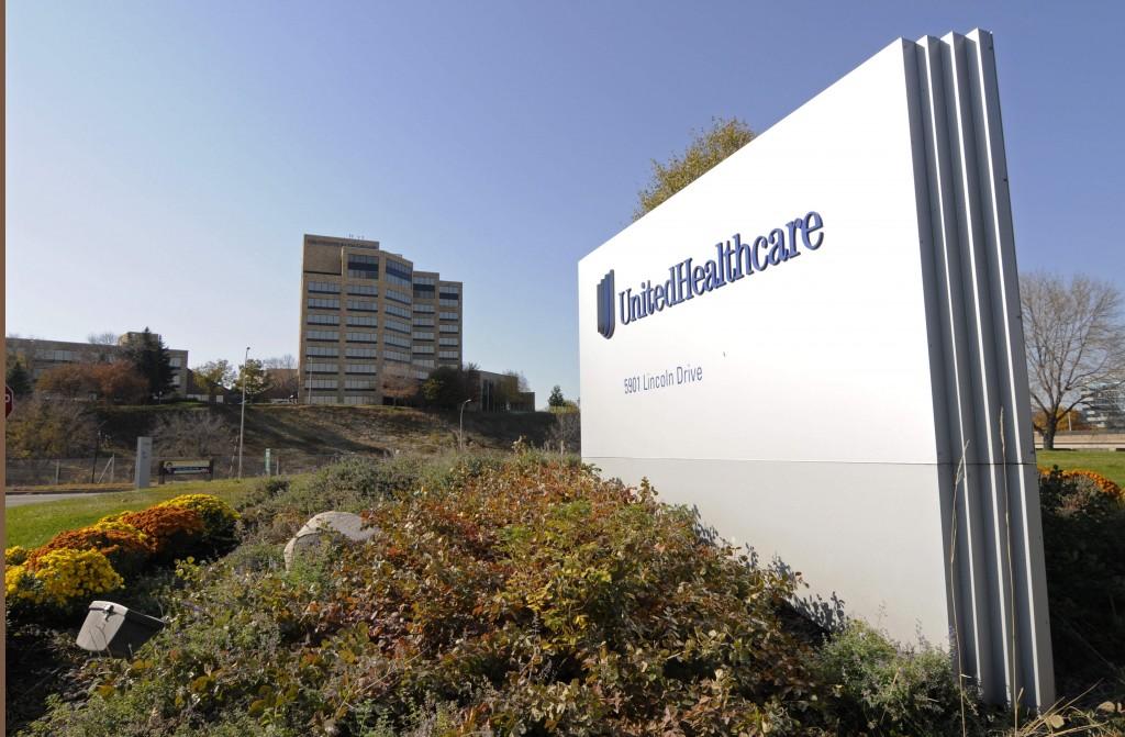 A portion of The UnitedHealth Group Inc.'s campus in Minnetonka, Minn.  (AP Photo/Jim Mone, File)