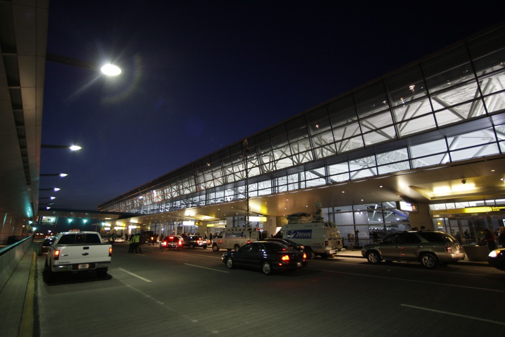 A file photo of Terminal 8 of JFK airport. (AP Photo/Frank Franklin II)