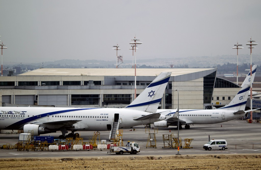 El Al planes at Ben Gurion airport. (AP Photo/Ariel Schalit)