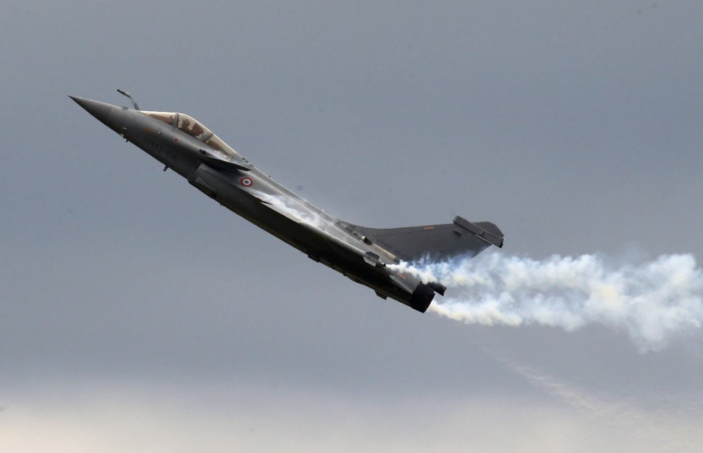 A French Air Force Rafale fighter jet, similar to the ones that the Egyptian air Force purchased from France. (AP Photo/Francois Mori, File)