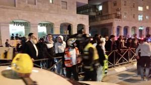 The scene of teh attack on Rechov Yirmiyahu. (Avraham Tzemach)