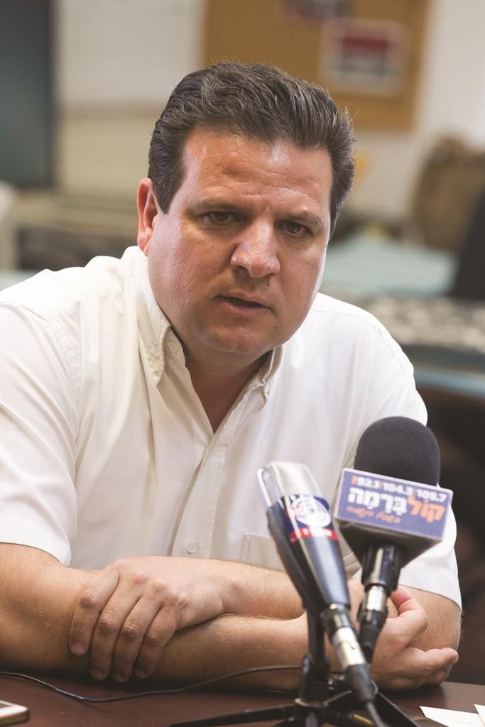 Leader of the Joint Arab List, Ayman Odeh. (Yonatan Sindel/Flash90)