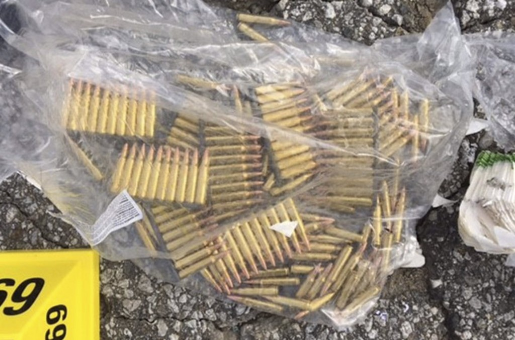 Ammunition confiscated from last Wednesday's attack in San Bernardino, California are shown in this San Bernardino County Sheriff Department handout photo from their Twitter account released to Reuters December 3, 2015.  REUTERS/San Bernardino County Sheriffs Department/Handout  ATTENTION EDITORS - THIS IMAGE HAS BEEN SUPPLIED BY A THIRD PARTY. IT IS DISTRIBUTED, EXACTLY AS RECEIVED BY REUTERS, AS A SERVICE TO CLIENTS.  FOR EDITORIAL USE ONLY. NOT FOR SALE FOR MARKETING OR ADVERTISING CAMPAIGNS