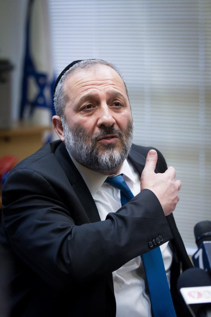Interior Minister Aryeh Deri. (Miriam Alsterl/Flash90)