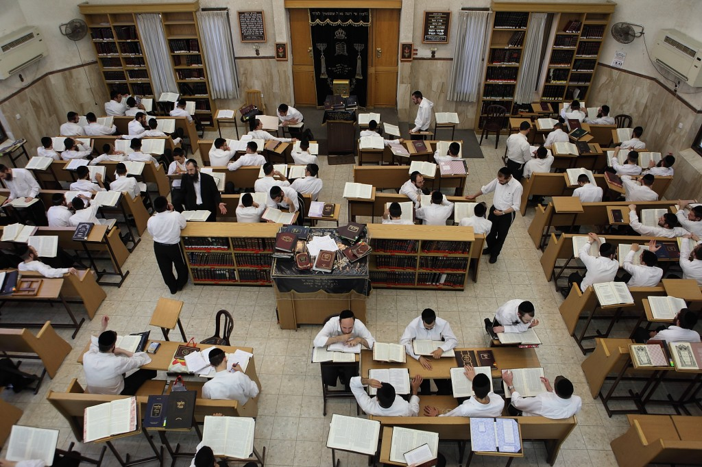 """The study Halls for orthodox jews called """"Yissachat tents"""" has several branches in orthodox communities. Photo by yaakov Naumi/Flash90"""