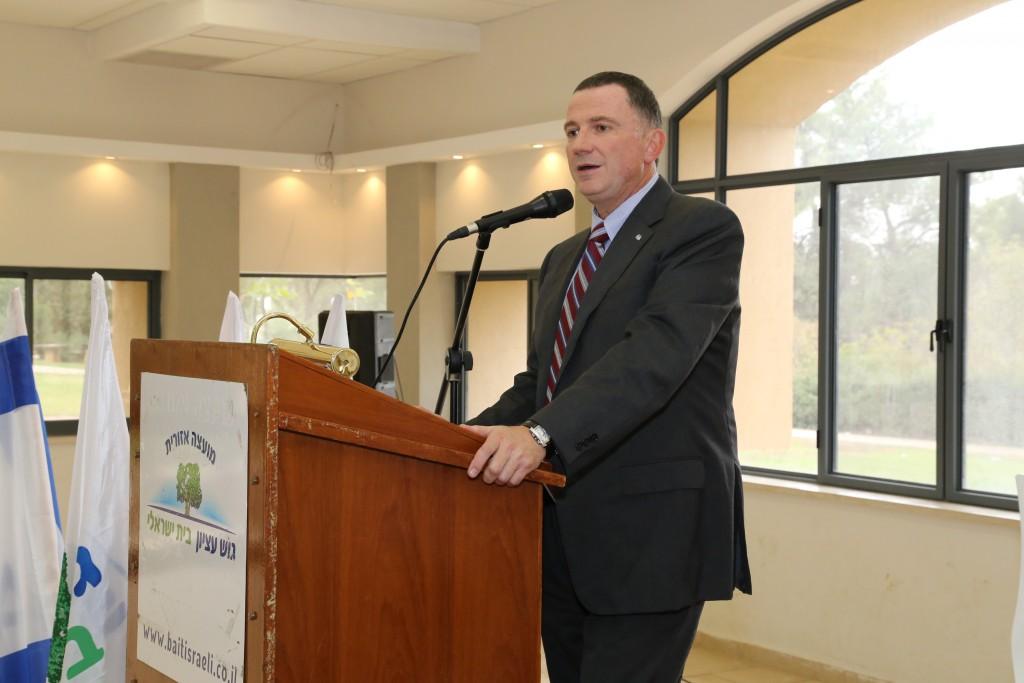 Speaker of the Knesset Yuli Edelstein. (Gershon Elinson/Flash90)
