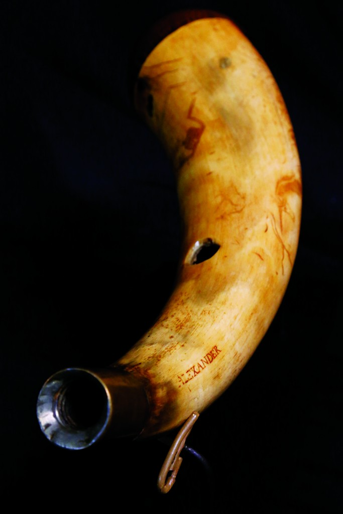 A horn believed to have been owned by Alexander Hamilton. (AP Photo/Julio Cortez)