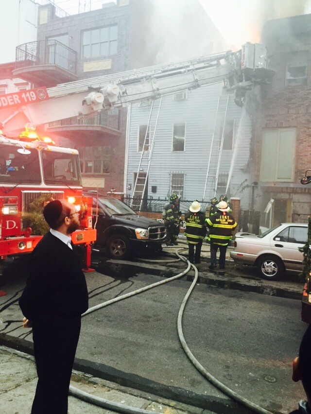 FDNY responds to an ongoing fire at 274 Skillman Street in Williamsburg. (JG)