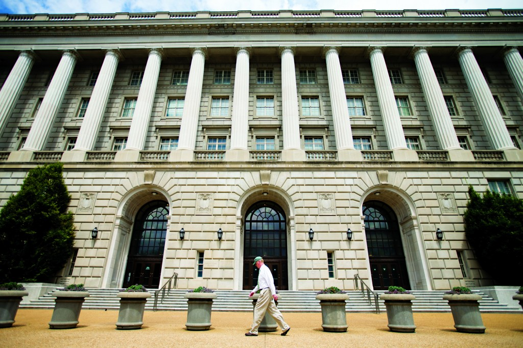 The Internal Revenue Service Building in Washington, D.C. (AP Photo/Andrew Harnik)