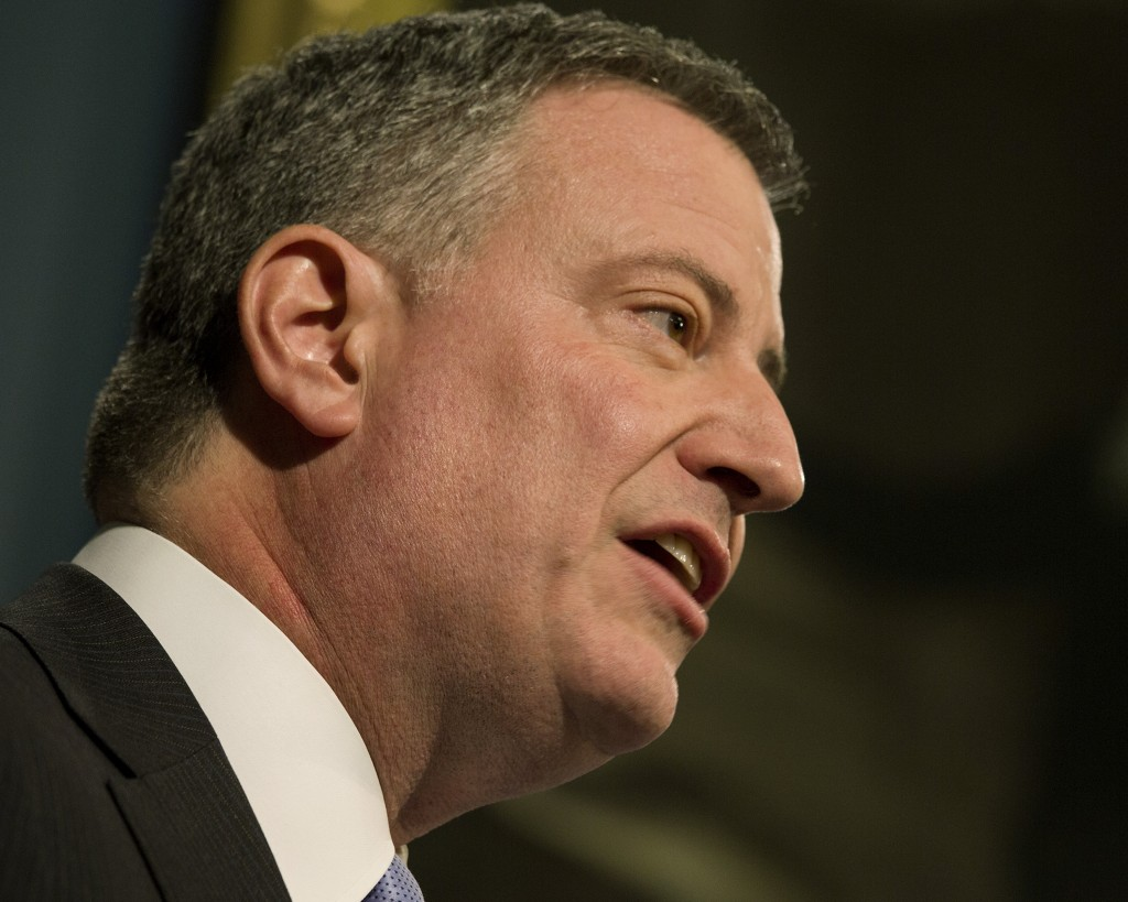 NYC Mayor Bill de Blasio (AP Photo/Craig Ruttle, Pool, File)