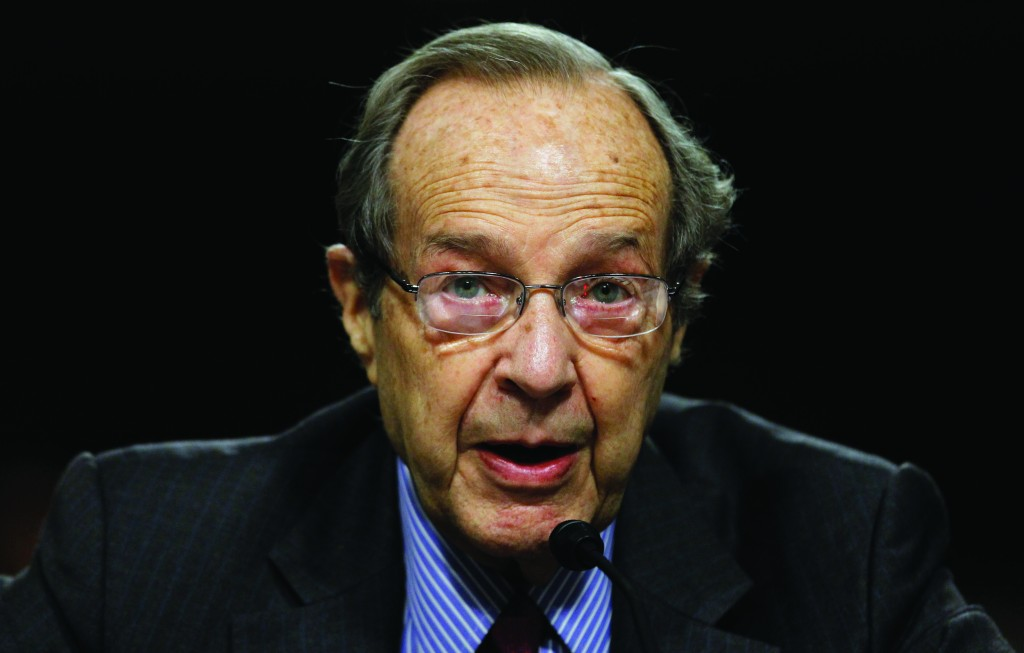 In this Aug. 2010 file photo, former Defense Secretary William Perry testifies on Capitol Hill in Washington. The 88-year-old former defense secretary is troubled by the risks of catastrophe from the very weapons he helped develop decades ago. (AP Photo/Alex Brandon, File)