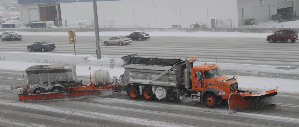 A tow plow, similar to the 62 vehicles purchased by New York to clear roads of snow. (Utah Department of Transportation)