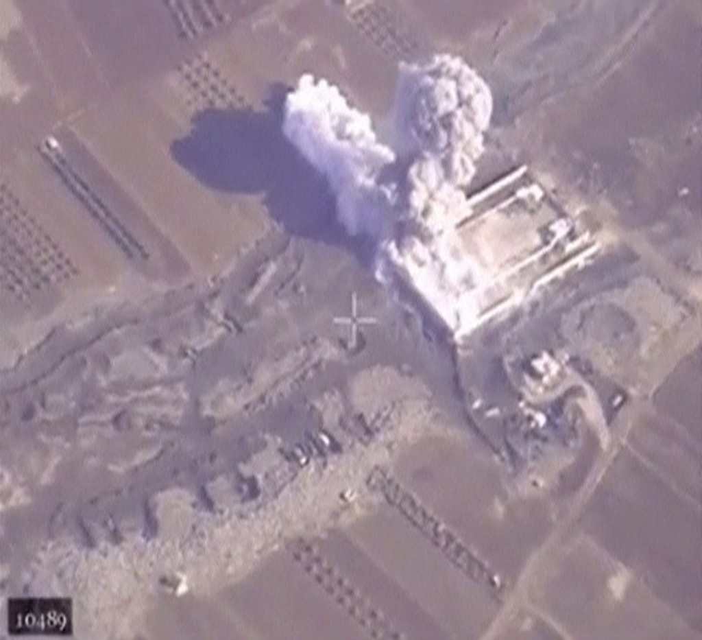 "A frame grab taken from footage released by Russia's Defence Ministry December 4, 2015, shows air strikes carried out by Russia's air force hitting a training camp, which, according to the ministry, is controlled by the Islamic State militants, in Aleppo in Syria. Russia's air force flew 431 sorties and hit 1,458 ""terrorist targets"" in Syria in the week of Nov. 26 - Dec. 4, Russian news agencies quoted the Russian Defence Ministry as saying on Friday. REUTERS/Ministry of Defence of the Russian Federation/Handout via Reuters ATTENTION EDITORS - THIS IMAGE WAS PROVIDED BY A THIRD PARTY. REUTERS IS UNABLE TO INDEPENDENTLY VERIFY THE AUTHENTICITY, CONTENT, LOCATION OR DATE OF THIS IMAGE. IT IS DISTRIBUTED EXACTLY AS RECEIVED BY REUTERS, AS A SERVICE TO CLIENTS. FOR EDITORIAL USE ONLY. NOT FOR SALE FOR MARKETING OR ADVERTISING CAMPAIGNS. NO RESALES. NO ARCHIVE."