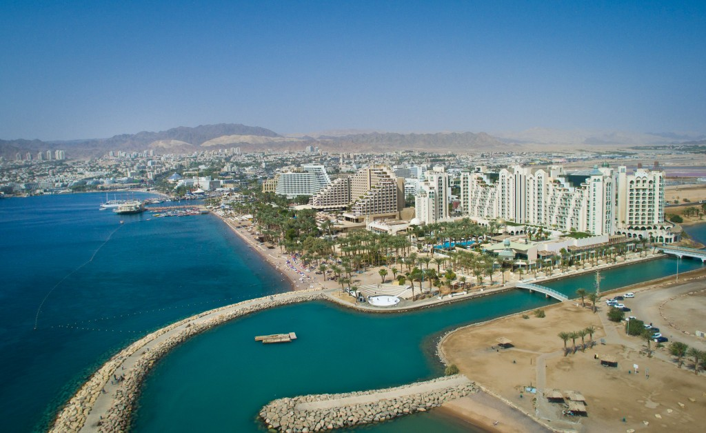 Aerial view of the southern Israeli city of Eilat. October 21, 2015. Photo by Moshe Shai/FLASH90 *** Local Caption *** ???? ???? ??????? ?????? ?????? ??? ????