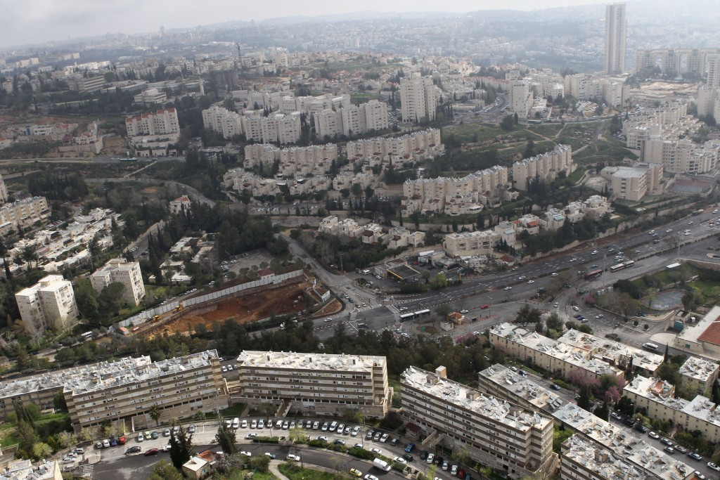 Bird eye view of Jerusalem, with Kiryat Yovel in the foreground. Photo by Nati Shohat/Flash90.