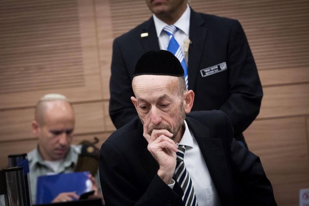 United Torah Judaism MK Uri Maklev. Photo by Miriam Alster/FLASH90