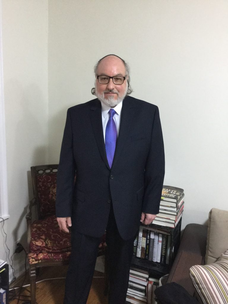 Jonathan Pollard, shortly before attending a meeting with of the Conference of Presidents of Major American Jewish Organizations on Monday. (Justice for JP)