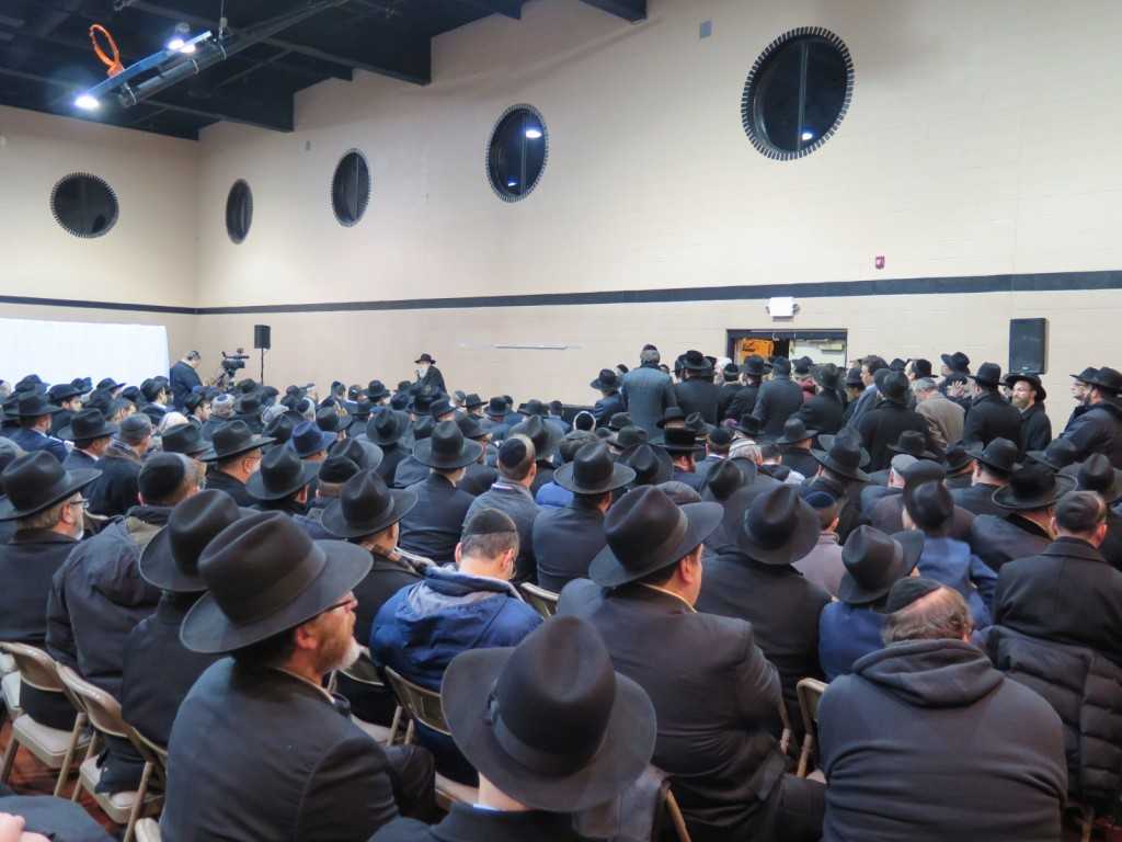 "Hespedim in Yeshiva Ohr Sameach in Monsey for the Noted Askan Rabbi Ronnie Greenwald z""l. (ABB/JDN)"
