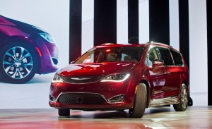 The 2017 Chrysler Pacifica is unveiled at the North American International Auto Show in Detroit, Mich. (AP Photo/Tony Ding)