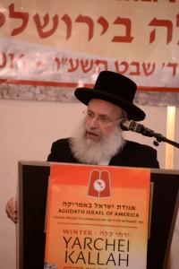 Harav Asher Weiss giving Shiur Hakdama (Agudath Israel of America)
